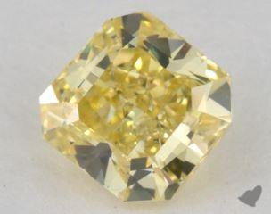 radiant0.48 Carat fancy intense yellowVS2