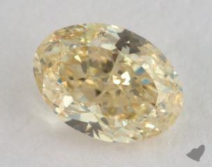 oval1.26 Carat fancy yellowSI2