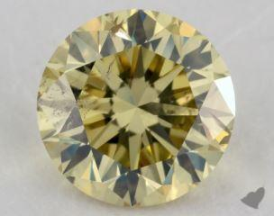 round1.51 Carat fancy yellowSI2