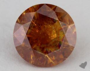 round1.22 Carat fancy deep yellowish orangeI3