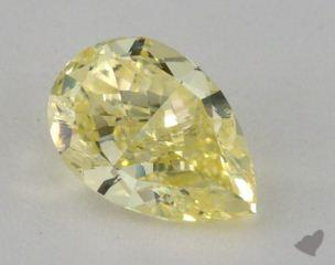 pear3.63 Carat fancy yellowSI2