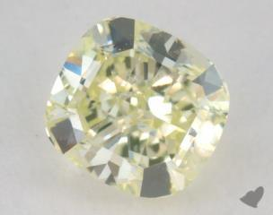 cushion0.66 Carat fancy light yellowish greenVS1