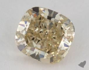 cushion1.07 Carat fancy brownish greenish yellowSI2