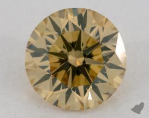 round1.26 Carat fancy brownish yellowVS2