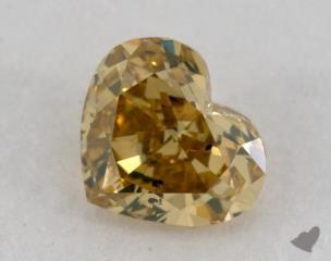 heart0.56 Carat fancy deep brownish greenish yellowSI2