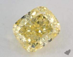cushion2.01 Carat fancy intense yellowSI1