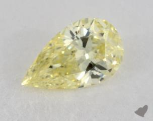 pear0.76 Carat fancy yellowSI2