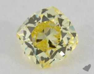 cushion0.96 Carat fancy intense yellowVS1