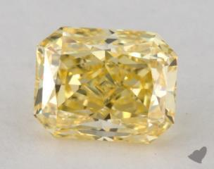 radiant0.95 Carat fancy intense yellowVS2