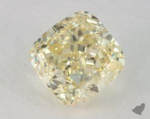 cushion2.24 Carat fancy light yellowSI1