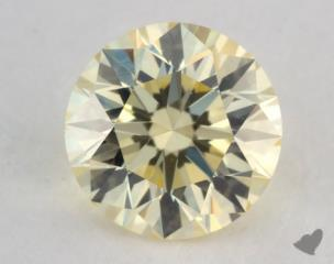 round0.53 Carat light yellowVVS2
