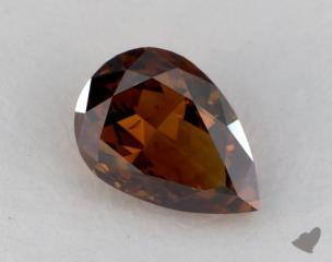pear1.10 Carat fancy deep orangeSI1