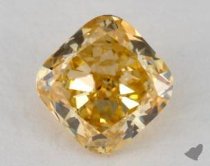cushion0.67 Carat fancy intense orangeSI2