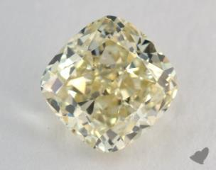 cushion1.51 Carat fancy light yellowSI1