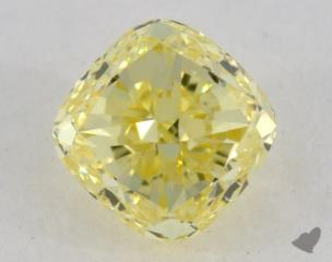 cushion0.71 Carat  yellowVVS1