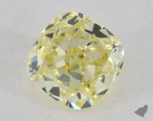 cushion0.47 Carat fancy yellowIF
