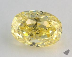 oval1.02 Carat fancy intense yellowVVS1