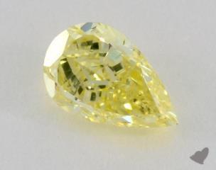 pear1.41 Carat fancy yellowSI1