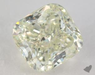 cushion1.70 Carat fancy yellow greenI1