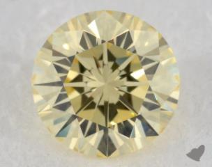 round0.54 Carat fancy light yellowVVS2