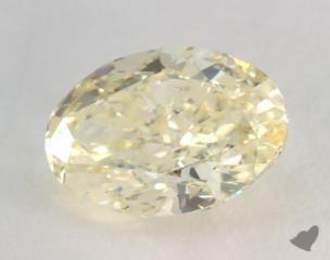 oval1.36 Carat fancy light yellowSI1