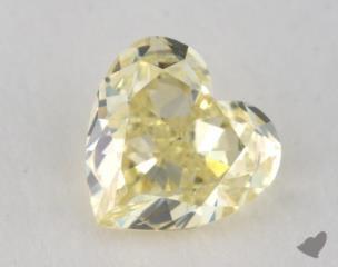 heart0.53 Carat fancy light yellowVS2