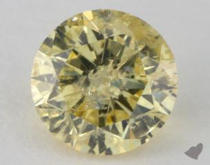 round1.31 Carat fancy intense yellowI2