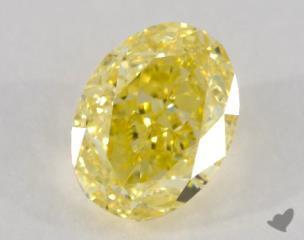 oval1.00 Carat  yellowVS1