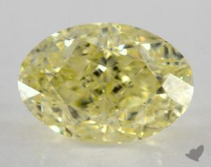 oval1.51 Carat  yellowIF