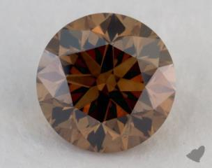 round0.92 Carat fancy dark orangy brownSI1