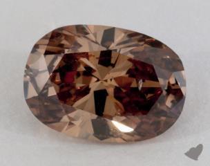 oval4.04 Carat fancy dark orangy brownSI2