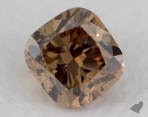 cushion0.51 Carat fancy yellowish brownVS2