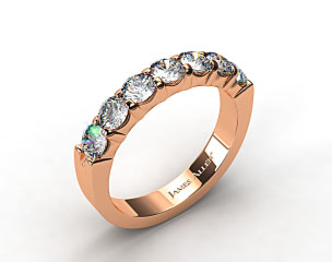 14K Rose Gold 1.50ctw Common Prong Diamond Anniversary Ring