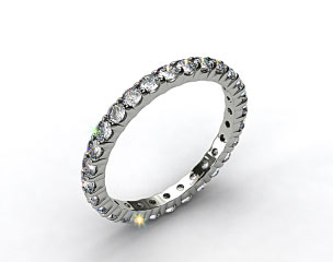 Ladies 1.50ctw* Contoured Common Prong Diamond Eternity Ring