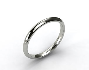 18K White Gold Knife Edge Women's Wedding Ring (Handmade)