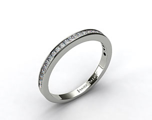 18k White Gold 0.63ct Channel Set Diamond Wedding Ring