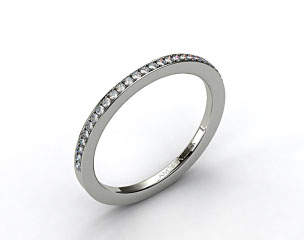 14K White Gold 1.5mm, 24 stone, 0.19ctw Matching Pave Wedding Band