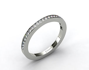 14K White Gold 2mm, 24 Stone, 0.24ctw Matching Channel Set Wedding Band