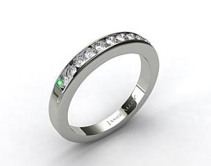 Platinum 0.35ct Channel Set Round Diamond Wedding Ring