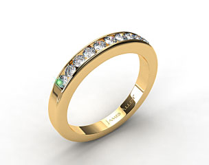14K Yellow Gold 0.35ct Channel Set Round Diamond Wedding Ring