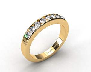 14K Yellow Gold 0.45ct Channel Set Round Diamond Wedding Ring
