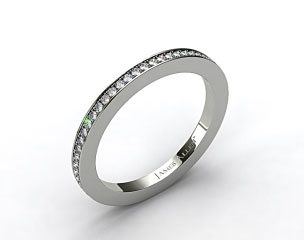 14K White Gold 1.5mm, 58 stone, 0.38ctw Matching Pave Eternity Band