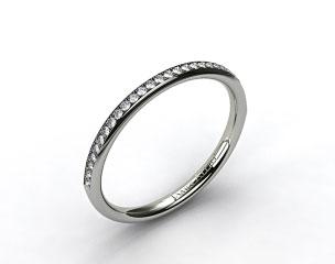 18K White Gold 2mm, 24 Stone, 0.16ctw Matching Pave Wedding Band