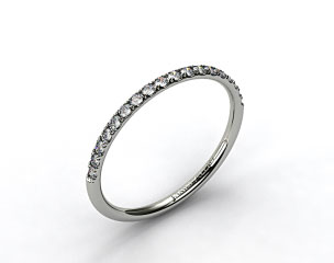 Platinum 1.5mm, 23 Stone, 0.16ctw Matching Pave Wedding Band