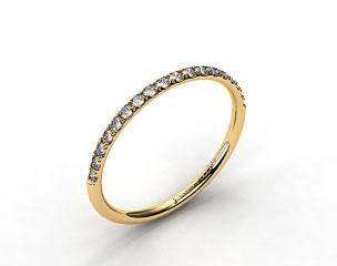 18K Yellow Gold Matching Pave Wedding Ring