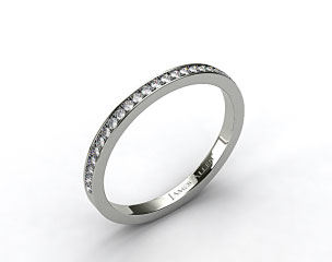 Platinum 2mm, 26 Stone, 0.18ctw Matching Pave Wedding Band