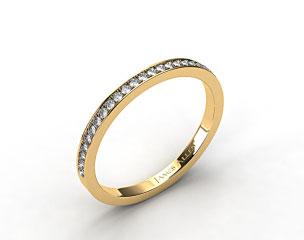 14K Yellow Gold 2mm, 26 Stone, 0.18ctw Matching Pave Wedding Band