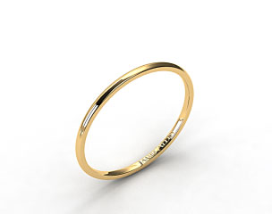 14K Yellow Gold 1.5mm Comfort Fit Wedding Ring