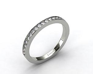 18k White Gold 1.8mm Pave Set Wedding Ring