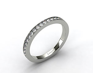 14k White Gold 1.8mm Pave Set Eternity Ring
